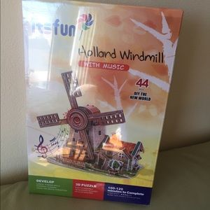3D Puzzle for Kids Jigsaw Puzzle Holland Windmill